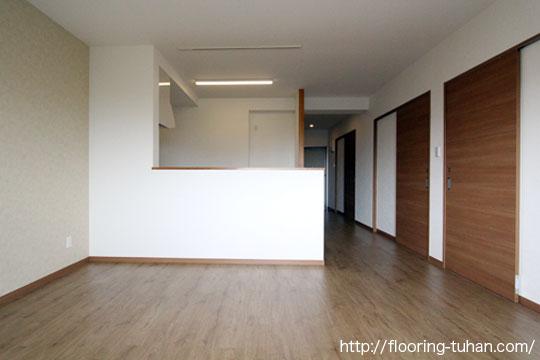 PVCフローリング(デコクリック)を使用した賃貸住宅
