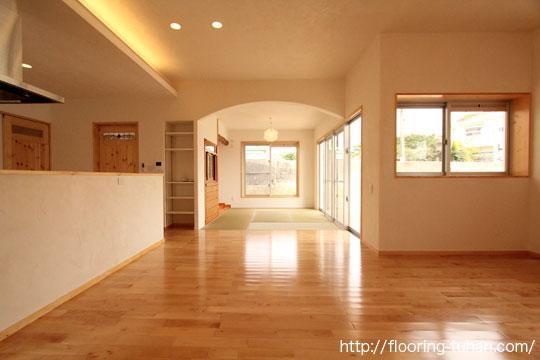 カバ桜フローリングを戸建て住宅に採用