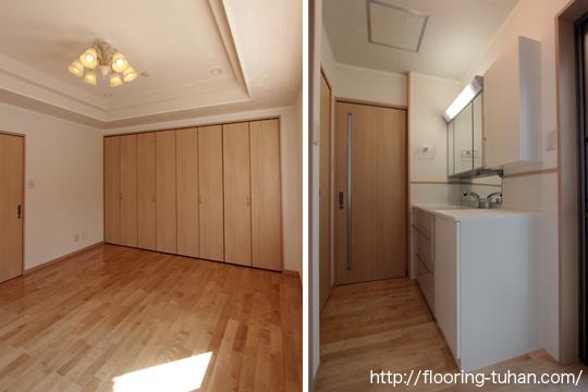 室内に光を取り入れるためにカバ桜 フローリングを床材に採用