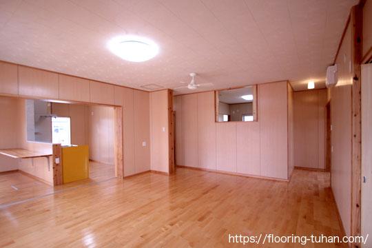 カバ桜フローリングを戸建住宅に採用