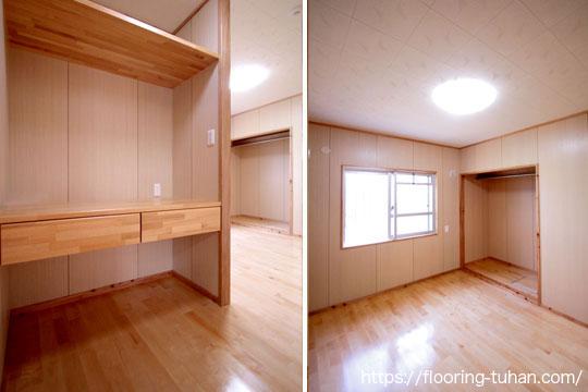 広々とした空間で室内を白で統一し、床材にカバ桜フローリングを使用したお宅
