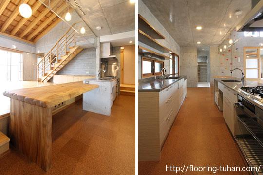 桧140巾集成3Pタイプ無塗装品・30mmを戸建て住宅の床材として使用