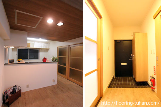 PVCフローリング(デコクリック)をマンションのリフォームの床材として使用
