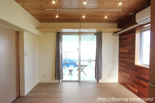 2階建て増改築部分にPVCフローリング(デコクリック)を使用した戸建て住宅