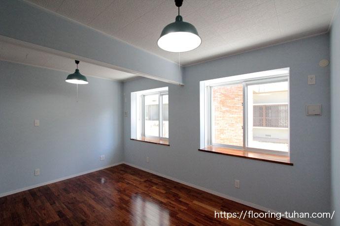 無垢フローリングを住宅の各部屋に使用して頂いた住宅(チーク/チーク材/床材/新築物件/無垢床材/無垢)