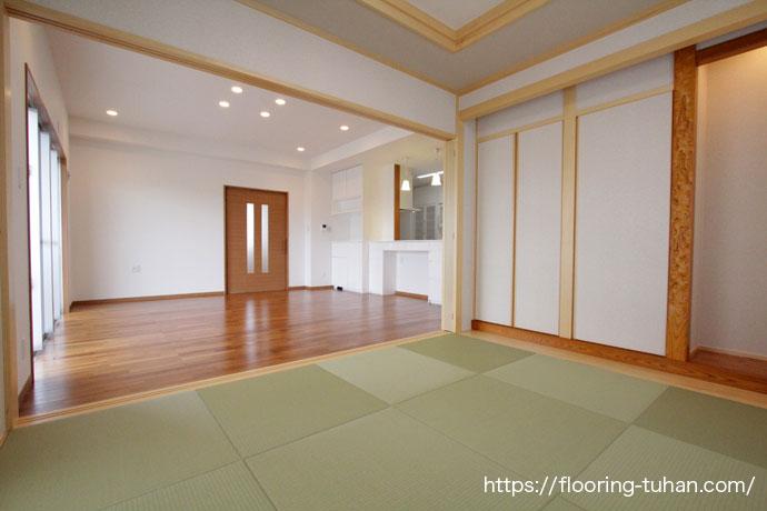 琉球畳と合うチークフローリング
