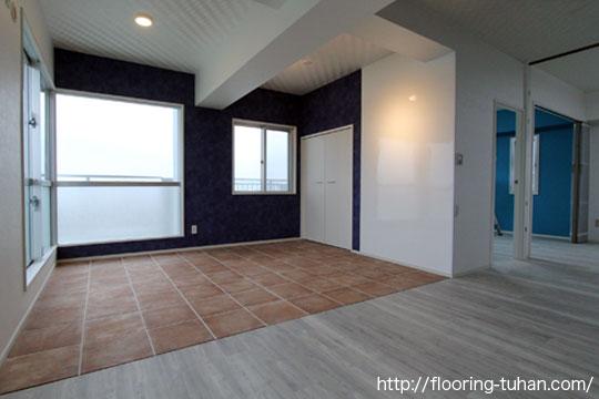 PVCフローリング(デコクリック)を床材に使用した物件