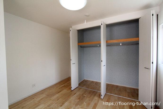 カバ桜無垢フローリングを新築住宅の床材として使用