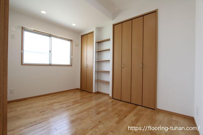 カバ桜 無垢材 フローリング(アパート住宅)