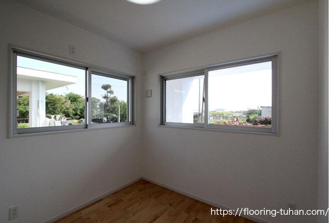 幅広い世代に人気のあるカバ桜無垢フローリング(床材)を新築受託の床材として使用したお宅