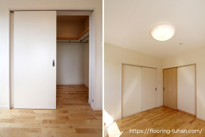 大容量のクローゼットと明るいお部屋