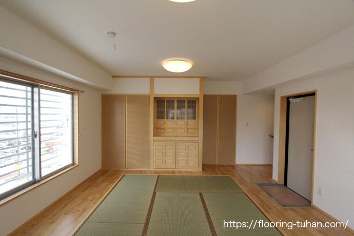 カバ桜フローリングを仏間に使用した戸建て住宅(カバ桜/カバ/バーチ/birch)