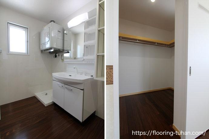 クク無垢フローリングを共同住宅の4階部分に採用していただいた物件