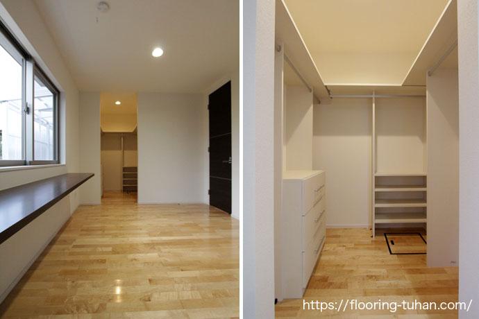 明るいお部屋と大容量クローゼット