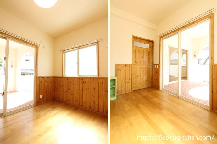 壁にも木材を使用することでナチュラルな雰囲気