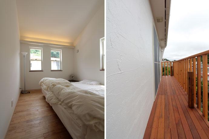 寝室(子供部屋)には栗(クリ)材を使用して広く明るい雰囲気