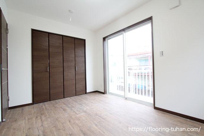 PVCフローリング(デコクリック)をアパート(賃貸物件)の床材として仕様
