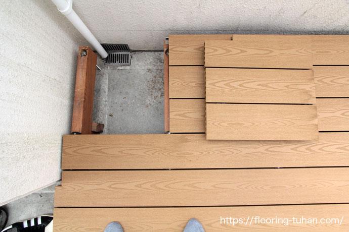 木と廃プラスティックの合成で作られた合成木のデッキ材、Gウッド。(セランガンバツ材/ウッドデッキ/エコデッキ/デッキ材)