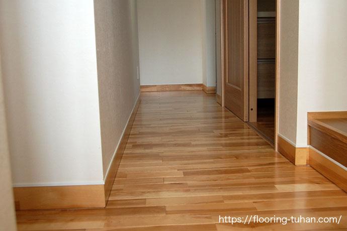 山桜フローリングを住宅の床材として使用