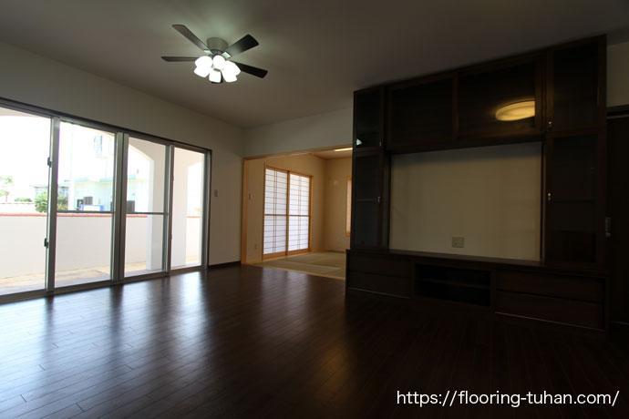 お気に入りの床、ローズウッド無垢フローリングで仕上げたお家