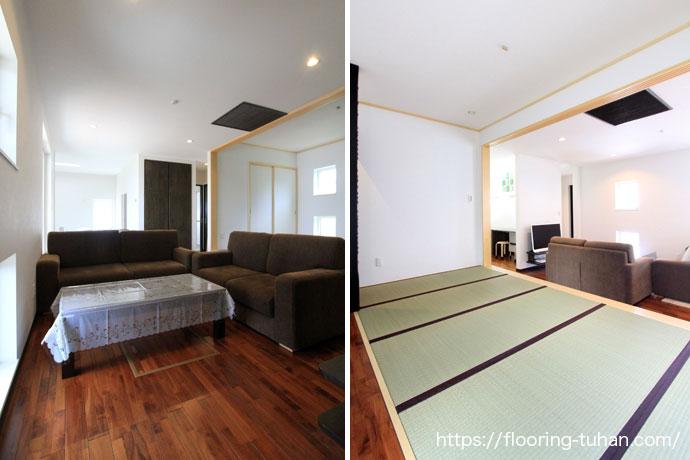 畳間ともマッチするチーク材 ブラウンチーク/チーク無垢床材