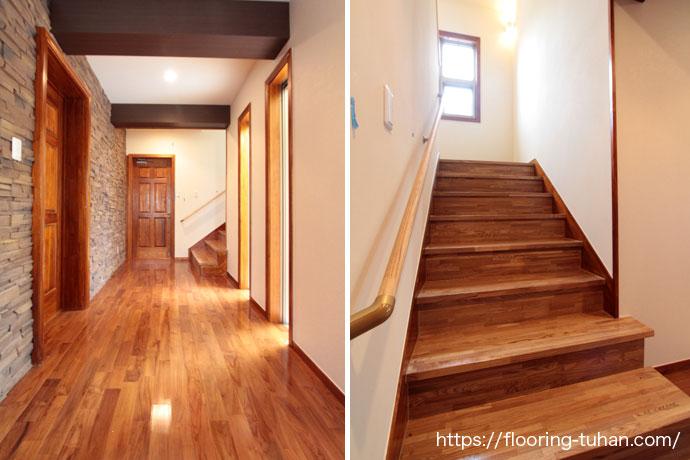 廊下/階段 無垢フローリング