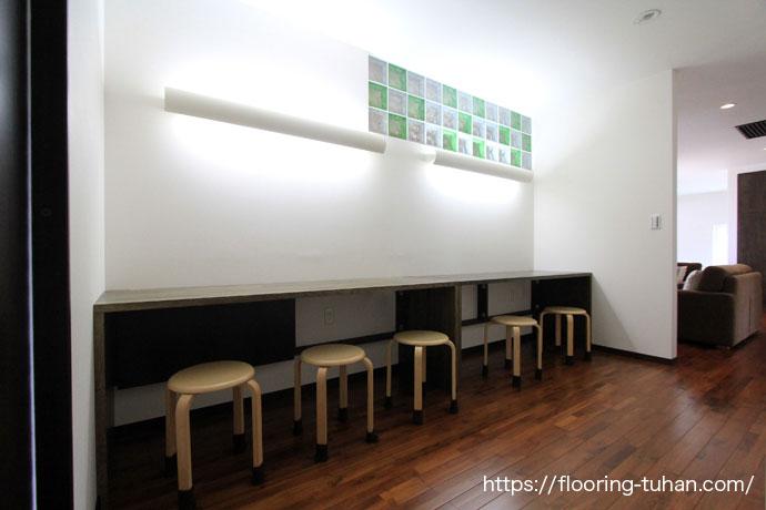 憧れのチークを使用した戸建て住宅 チーク無垢床材/無垢床