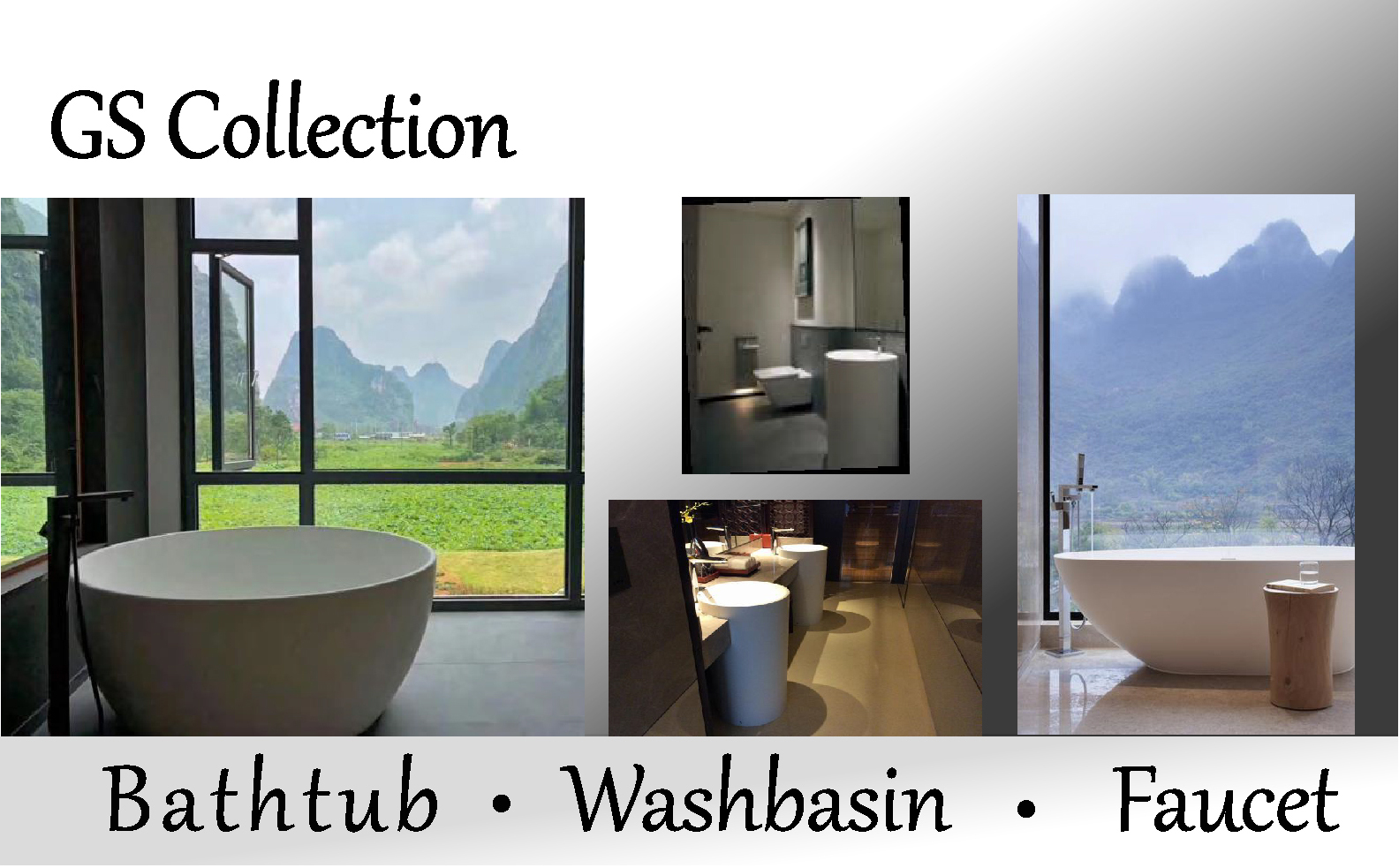 GS Collection Bathtub.Washbasin.Faucet