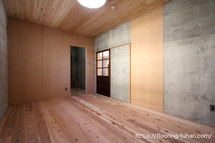 杉フローリングをご採用いただいた沖縄県の戸建て住宅